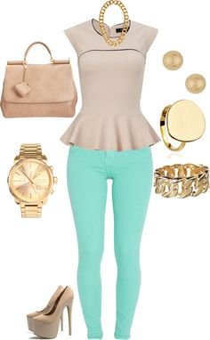 """Nude and Mint"" by simplinellz on Polyvore"