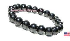 Magnetic Hematite Healing Energy Gemstone Bracelet - Men's or Women's  REIKI - pinned by pin4etsy.com