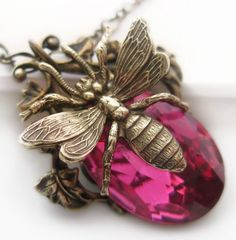 Image detail for -Queen Bee Necklace Art Nouveau Vines Pendant Jewelry by Federikas
