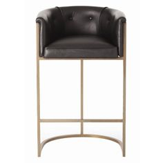 Interior HomeScapes offers the Calvin Bar Stool - Antique Brass and Black Leather by Arteriors. Visit our online store to order your Arteriors products today. Brass Bar Stools, Leather Bar Stools, Counter Stools, Bar Counter, Leather Chairs, Deco Furniture, Design Furniture, Modern Furniture, Garden Furniture
