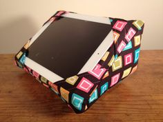 Items similar to Black with Multi-colored Squares - iWedge iPad Pillow Cushion Stand on Etsy