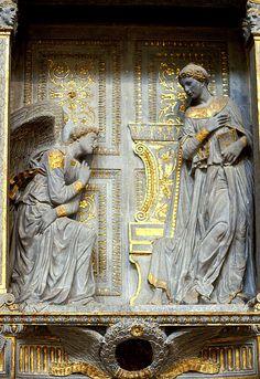 Florenz, Basilica di  Santa Croce, Verkündigung von Donatello (Annunciation) | da HEN-Magonza