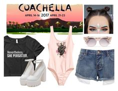 """Coachella Feminism"" by wearyourdissent ❤ liked on Polyvore featuring H&M, Jimmy Choo and ShePersisted"