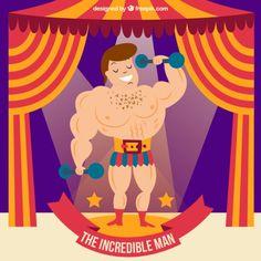 homem forte circo azul png - Pesquisa Google