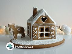 Pernikova Chaloupka sablona Biscuits, Pasta Flexible, Christmas Cookies, Quilling, Christmas Time, Gingerbread, Origami, Decoupage, Washi