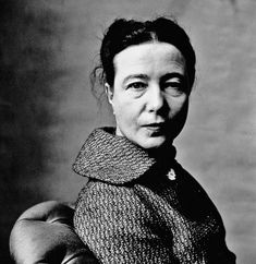 Simone de Beauvoir, New York, 1957. Photo by Irving Penn.