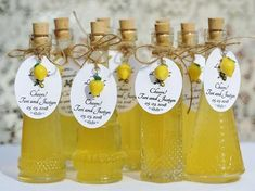 96 Bottles Tags AND Lemon Charms Limoncello Bottles Tags Lemon Charms Limoncello Favor Empty Bottles Corked Glass Bottles Lemoncello Favors Bridal Shower Favors, Wedding Favours, Wedding Themes, Lemon Party, Wedding Bottles, Yellow Wedding, Marie, Empty Bottles, Glass Bottles