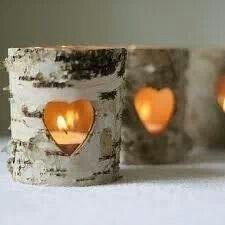 Aspen tree candles