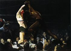 Both Members of This Club -- George #Bellows -- 1909 -- Oil on Canvas -- National Gallery of Art  #Realism #AmericanRealism #Painting