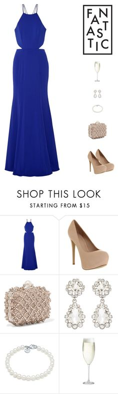 """""""I found my missing piece"""" by sashiss ❤ liked on Polyvore featuring Notte by Marchesa, Office, Jimmy Choo, Forever New, Tiffany & Co., Crate and Barrel, Prada, jimmychoo, marchesa and gown"""