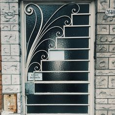 No photo description available. Window Grill Design Modern, Grill Gate Design, Door Gate Design, Railing Design, Window Design, Tor Design, Window Bars, Wrought Iron Doors, House Front Design