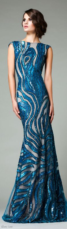 Look at this blue sequin evening gown that is sleeveless. The design and cut of this dress is beautiful. This haute couture evening dress could be easily replicated if you are on budget. You can get pricing on custom evening dresses as well as replicas of Elegant Dresses, Pretty Dresses, Blue Dresses, Sequin Evening Gowns, Evening Dresses, Sequin Gown, Beautiful Gowns, Beautiful Outfits, Couture Fashion