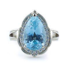 Stunning aquamarine engagement ring.