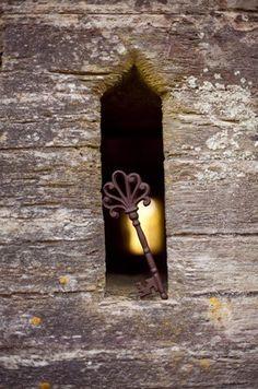 key in a hole,backlight