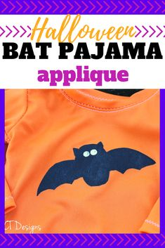 Make Halloween pajamas easily with this bat applique pattern. Paint, sew or color a bat onto a tshirt or pants for a fun Halloween pajama. #pajamas #pyjamas #halloweenclothes #halloween #holidaypajamas