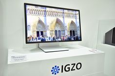 At CEATEC Japan, Sharp has unveiled the IGZO, a 27-inch display which features a resolution of 8K (7680x4320) and refresh rate of 120Hz with full HDR color support.