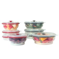 Collapse It Round 8-pack Silicone Food Storage