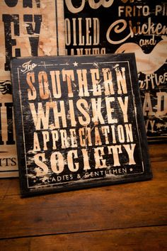 Festive sign  Bourbon Signs | Old Dirty Type | Bourbon & Boots