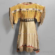 Cheyenne Beaded Hide Girl's Dress | Sale Number 2862B, Lot Number 163 | Skinner Auctioneers