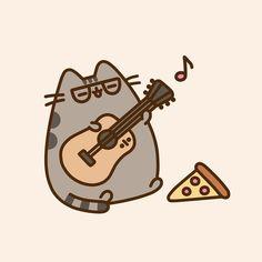 Pusheen so cute! Gato Pusheen, Pusheen Love, Pusheen Stuff, Pusheen Plush, Cute Kawaii Drawings, Kawaii Cat, Cat Drawing, Cute Characters, Cat Life