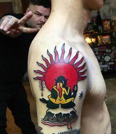 by. kimsany #hybridink #tattoo #studio #seoul #korea #style #koreatattoo #seoultattoo #neotraditional #neotrad #colortattoo #skinartmag #skin #tattoolife #tattooart #tattooist #art #bodyart #club #drawing #tattoos #topclasstattooing #tattoo
