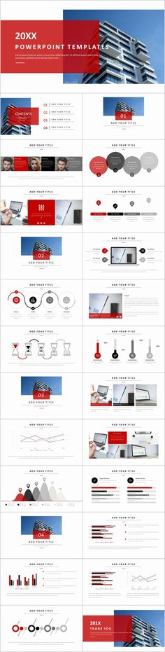 25 Blue Annual Company Powerpoint Templates Template Business