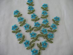 5 EMBROIDERED FLOWERS iron on by Toide on Etsy, $7.25