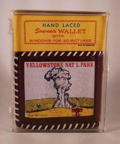 Vtg Plastic Souvenir Wallet From Yellowstone National Park. NIP NOS Vintage