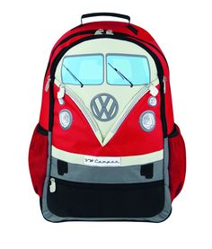 74.95$  Buy now - http://vitjh.justgood.pw/vig/item.php?t=z1vsjb6680 - VW Bus Backpack-Red 74.95$