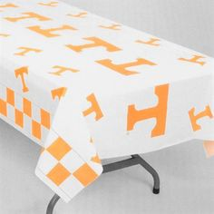 "Tennessee Volunteers White Team Logo 54"" x 108"" Plastic Tablecover   #UltimateTailgate #Fanatics"