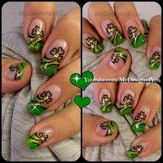St. Patrick's Day Nail Art  by MyDesigns4you - Nail Art Gallery nailartgallery.nailsmag.com by Nails Magazine www.nailsmag.com #nailart