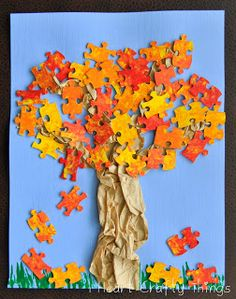 I HEART CRAFTY THINGS: Cookie Cutter Stamped Fall Tree