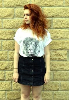Lion Print Tattoo T-shirt