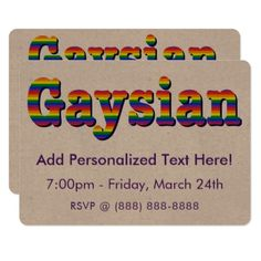 #Gaysian Card - #friday #fridays