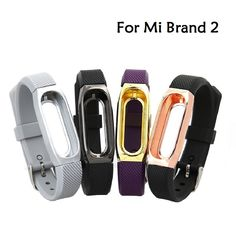 $4.05 - 10mm Silicone Smart Watchband Replacement Wristband Band Strap with Staniless Watch Case for Xiaomi MI 2 brand strap | Shop Now! - WorldOfTablet.com