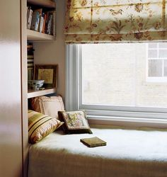 "Window bed - when I saw this room, it reminded me of my teen years spent staring out the window, wishing for ""something"" to happen."