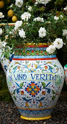 Like the classic planters found throughout Italy, our hand-painted urn is actually lighter, stronger, and easier to move than the ceramic original.