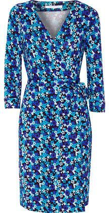 Diane von Furstenberg New Julian Two Printed Silk-Jersey Wrap Dress