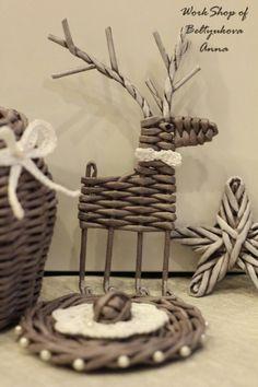 Вироби із паперових трубочок: майстер-класи та ідеї (34 фото) – Самотужки Recycled Paper Crafts, Handmade Crafts, Diy And Crafts, Newspaper Basket, Newspaper Crafts, Christmas Crafts For Kids, Christmas Diy, Christmas Decorations, Magazine Crafts