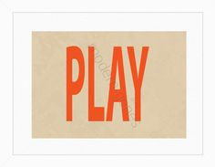 Play Modern Print by moderngenes on Etsy, $20.00