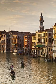 Grand Canal with Bell Tower of SS. Apostoli