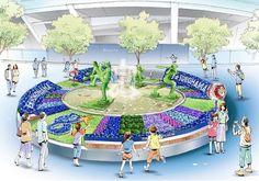 横浜DeNAベイスターズ、野球を花と緑で表現した「ベイスターズガーデン」開催