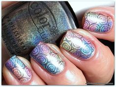 Color Club Halo Hues Spring 2013 - Beyond (black, stamping polish) & Cheeky CH11