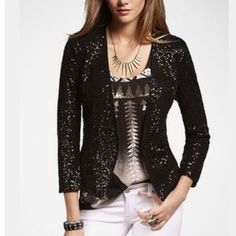 Taking Offersnwt Womens Blazer With Sequins