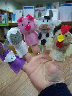 farm friends finger puppets