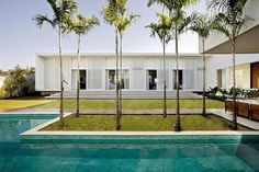 Designed by Leo Romano, this modern single-storey private residence is situated in Goiania, Brazil.