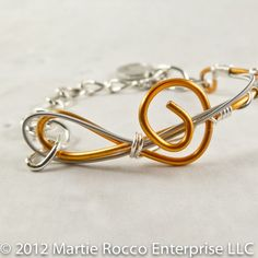 string and copper wirewrap by Eagleton Rocco Jewelry on Wire Wrapped Bracelet, Cord Bracelets, I Love Jewelry, Jewelry Making, Guitar String Jewelry, Dedicated Follower Of Fashion, Guitar Strings, Copper Wire, Wire Wrapping