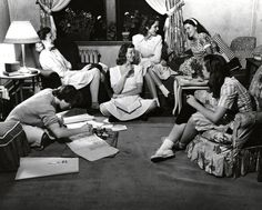 Students relaxing. Vassar College 1940