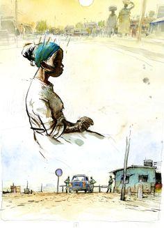 Un dessin de Benjamin Flao pour «Immigrants», projet à paraître…|Futuropolis