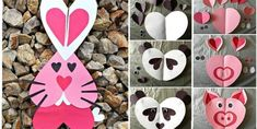 24 modèles à bricoler avec des cœurs pour la Saint-Valentin! - Bricolages - Trucs et Bricolages Valentine Crafts, Be My Valentine, Decoration St Valentin, Heart Wreath, Learning The Alphabet, Wedding Bouquets, Birthday Cards, Balloons, Arts And Crafts